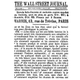 Transparentní razítko The Wall street journal (1 ks)